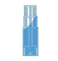 Building skyscraper high facade urban vector