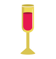 champagne cup isolated vector image