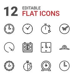 chronometer icons vector image