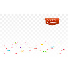colorful bright confetti isolated vector image
