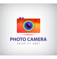 Colorful photo camera logo vector