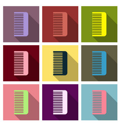 Comb icon icon isolated on background vector