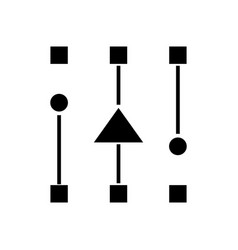 connections black icon concept vector image