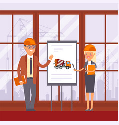 construction technic machine use discussion in vector image