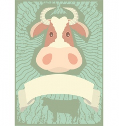 Cow grunge vector