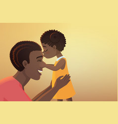 cute little black african american daughter girl vector image
