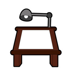 Drafting or drawing table stationery tool icon vector