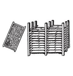 Drying rack vintage vector