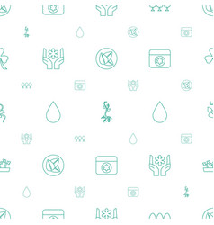 Eco icons pattern seamless white background vector