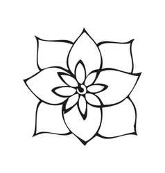 Fantasy flower in tattoo style vector image