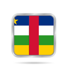flag of central african republic square button vector image