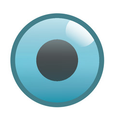 Flat black record button icon vector