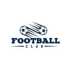 Football club two balls flying background i vector