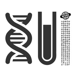 Genetic analysis icon with work bonus vector