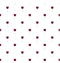 glass of red wine pattern seamless vector image