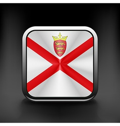 Guernsey icon flag national travel icon country vector image