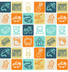 hand drawn icons set - household 4 vector image