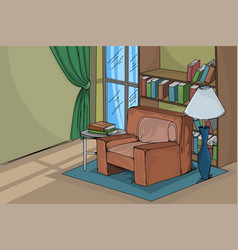 House living room scene vector