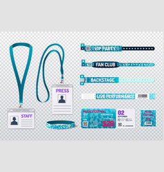 id cards realistic set vector image