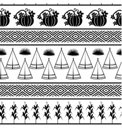 indian theme graphic seamless pattern vector image