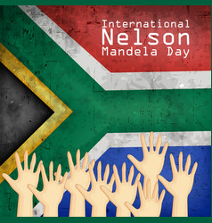 International nelson mandela day vector