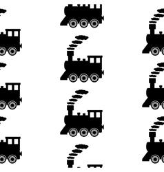 Locomotive symbol seamless pattern vector image