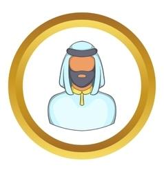 Male arab icon vector image