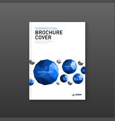 Medical brochure cover template vector