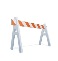 Of Traffic Sawhorse vector image