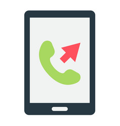 outgoing call flat icon contact us and website vector image