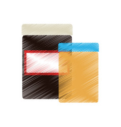 pair of blank label jars icon image vector image