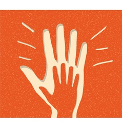 paper peoples hand vector image