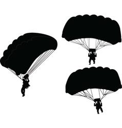 parachutist - vector image