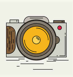 Photo camera icon modern minimal flat design style vector
