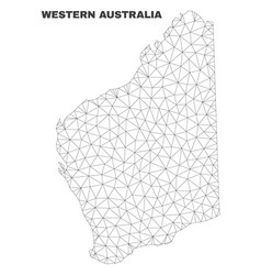 Polygonal mesh western australia map vector