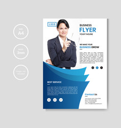 professional corporate business flyer vector image