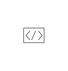 programming code icon vector image