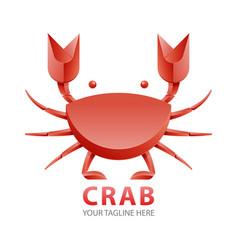 red crab gradient logo concept vector image