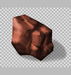 rock stone vector image