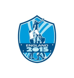 Rugby Lineout England 2015 Shield vector image