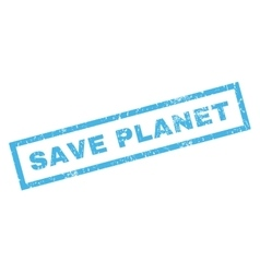 Save Planet Rubber Stamp vector