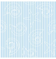 Sea life seamless pattern with stripes vector image