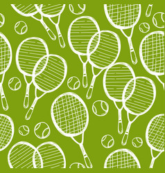 seamless pattern tennis and badminton vector image