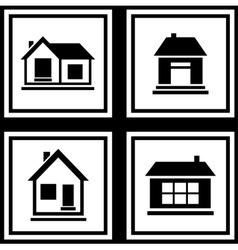 set house on white backgrounds icon vector image