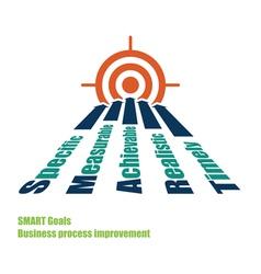 SMART goals target vector