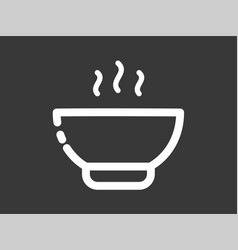 soup icon sign symbol vector image