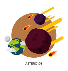 Space asteroids image vector