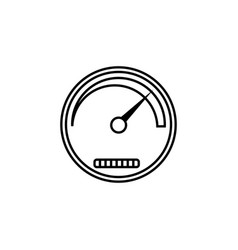 speedometer line icon navigation and tachometer vector image
