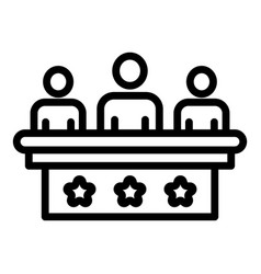 Staff education forum icon outline style vector
