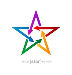 star with arrows on white background Abstract vector image vector image
